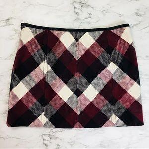 NEW Free People Plaid Mini Skirt, Size 8